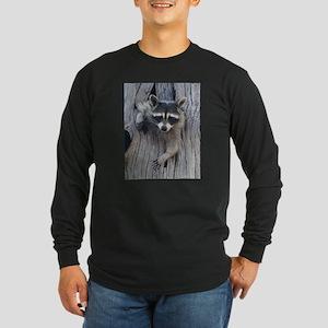 Raccoon in a Tree Long Sleeve T-Shirt