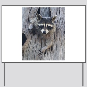 Raccoon in a Tree Yard Sign