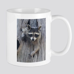 Raccoon in a Tree Mugs
