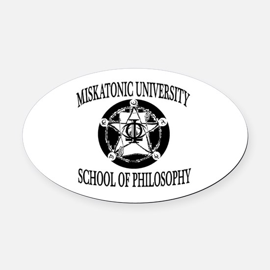 Philosophy Department Oval Car Magnet