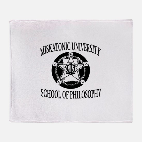 Philosophy Department Throw Blanket