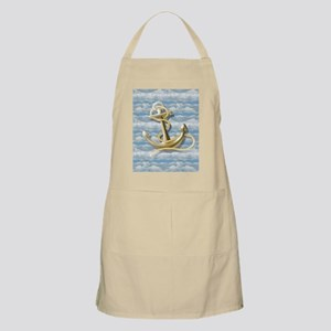 cloudy blue sky nautical anchor Apron