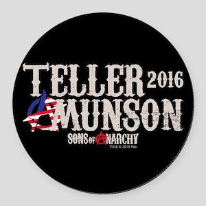 SOA Teller Munson 2016 Round Car Magnet