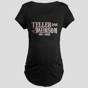 SOA Teller Munson 2016 Maternity Dark T-Shirt