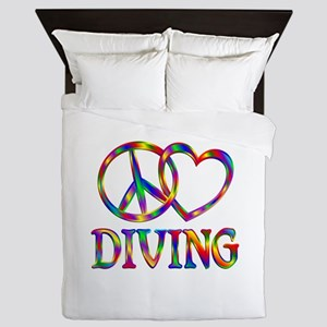 Peace Love Diving Queen Duvet