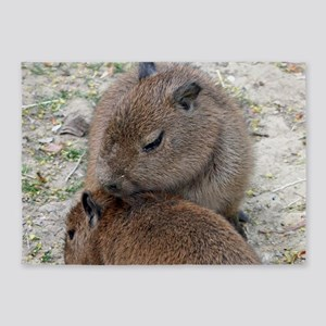 Capybara001 5'x7'Area Rug