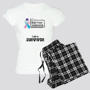 thyroid cancer survivor wor Women's Light Pajamas