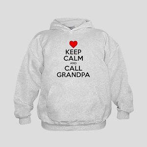 Keep Calm Call Grandpa Hoodie