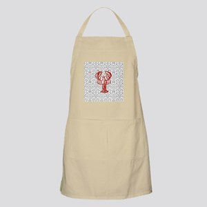 gray damask red lobster Apron