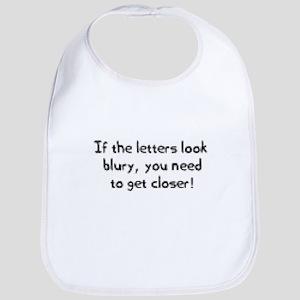 Blury Letters Bib