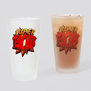 Super Teacher Drinking Glass
