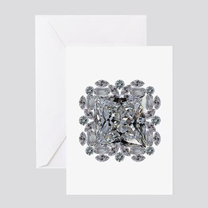 Diamond Gift Brooch Greeting Cards