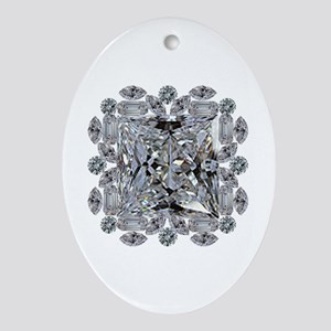 Diamond Gift Brooch Oval Ornament