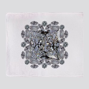Diamond Gift Brooch Throw Blanket