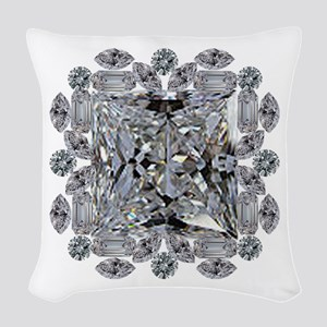 Diamond Gift Brooch Woven Throw Pillow