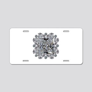 Diamond Gift Brooch Aluminum License Plate