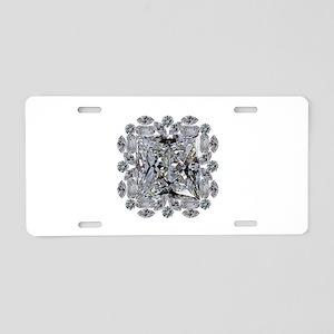 Diamond Gift Brooch Aluminum License Plate
