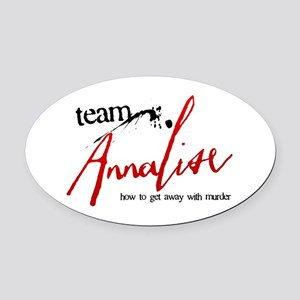 Team Annalise Oval Car Magnet