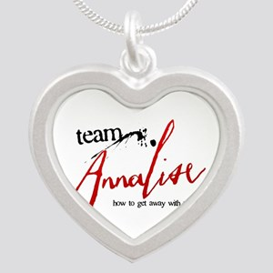 Team Annalise Silver Heart Necklace