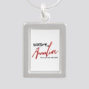 Team Annalise Silver Portrait Necklace