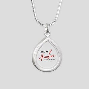 Team Annalise Silver Teardrop Necklace