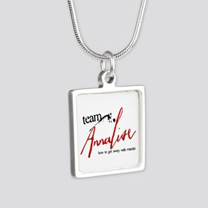 Team Annalise Silver Square Necklace