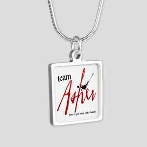 Team Asher Silver Square Necklace