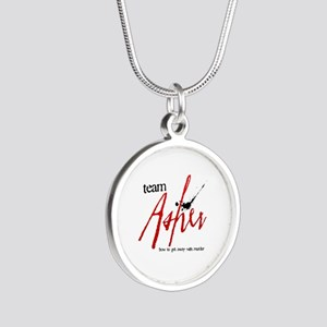 Team Asher Silver Round Necklace