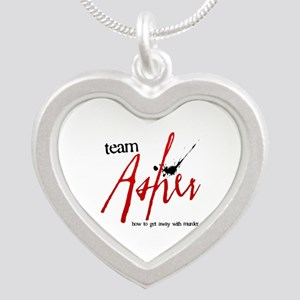 Team Asher Silver Heart Necklace