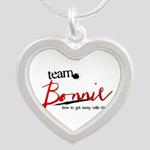 Team Bonnie Silver Heart Necklace