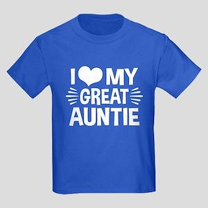 I Love My Great Auntie Kids Dark T-Shirt