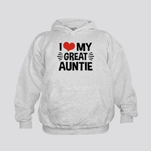 I Love My Great Auntie Kids Hoodie