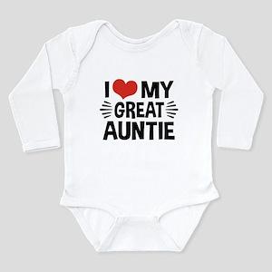I Love My Great Auntie Long Sleeve Infant Bodysuit