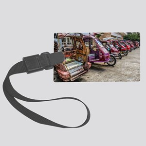 Colorful Tricycles 1 Luggage Tag