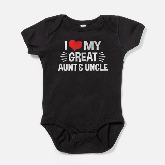 I Love My Great Aunt & Uncle Baby Bodysuit