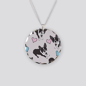 Boston Terriers Pattern Necklace