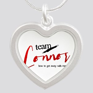 Team Connor Silver Heart Necklace