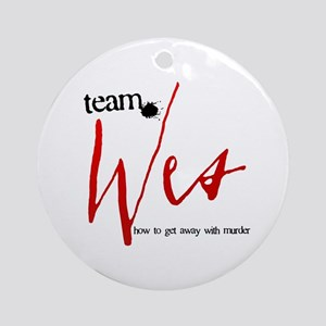 Team Wes Round Ornament