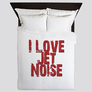 I Love Jet Noise Queen Duvet