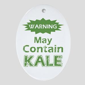 Funny Kale Oval Ornament