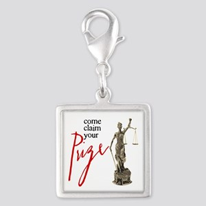 Claim Your Prize Silver Square Charm