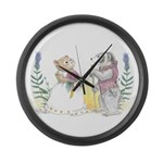 The Couple Large Wall Clock