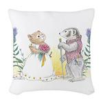 The Couple Woven Throw Pillow
