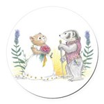 The Couple Round Car Magnet