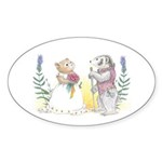 The Couple Sticker (Oval 50 pk)