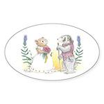 The Couple Sticker (Oval 10 pk)