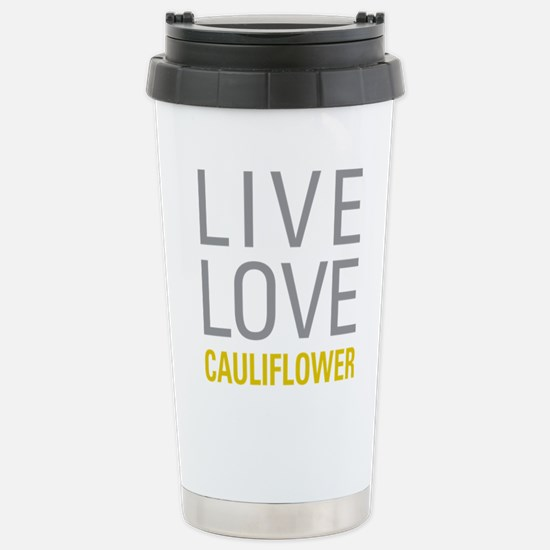 Live Love Cauliflower Stainless Steel Travel Mug