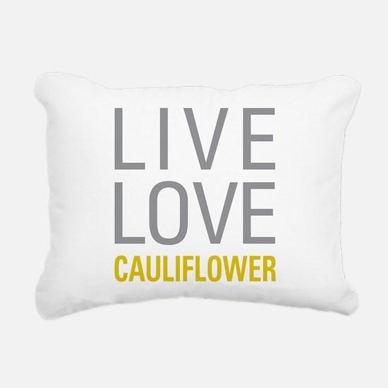 Live Love Cauliflower Rectangular Canvas Pillow