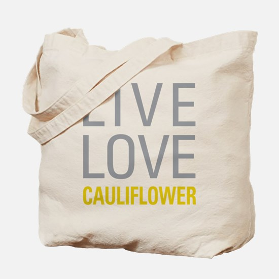 Live Love Cauliflower Tote Bag
