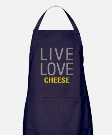 Live Love Cheese Apron (dark)